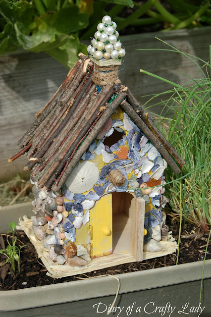 Diary Of A Crafty Lady Fairy Houses A Fun Summer Project