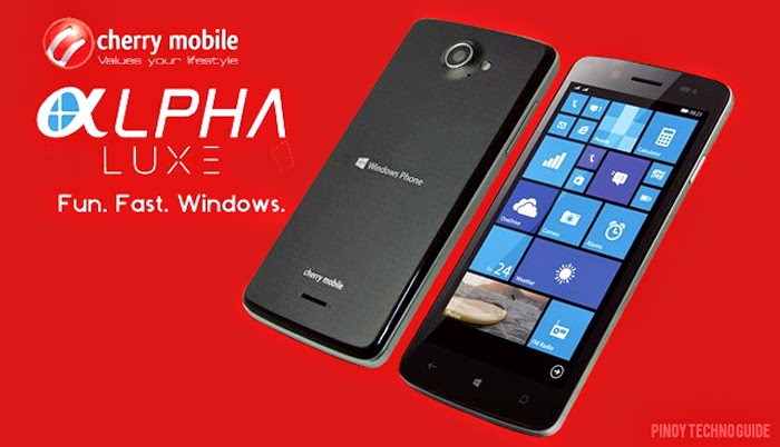 Cherry Mobile Alpha Luxe Windows Phone with 5-Inch Display Full Specs, Price and Features