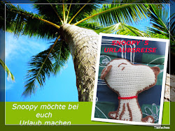 Snoopy auf Urlaubs-Reise!