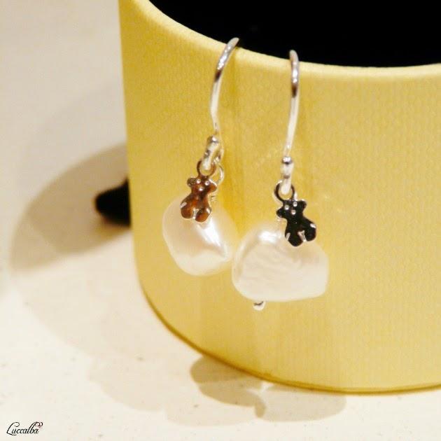 Pendientes de perlas barrocas y plata de Tous