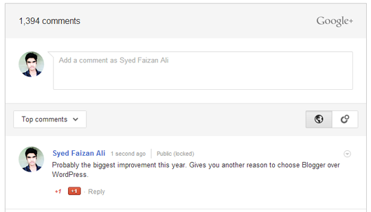 Bagaimana Cara menambahkan Komentar Google+ di Blogger?