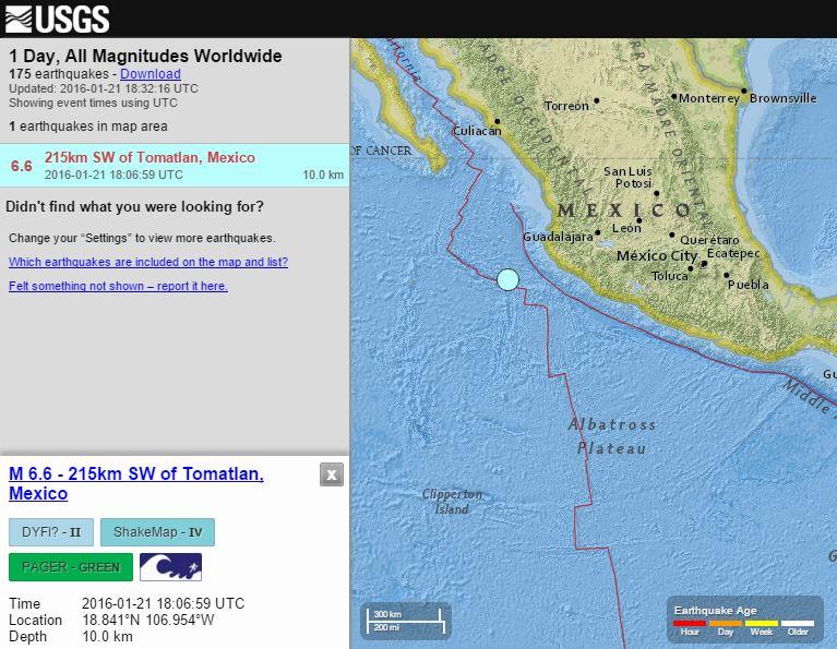 BIG MEXICO SHAKING EARTHQUAKE MAKES SEA BUOYS TO TRIGGER ALARM