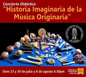 23, 30 Jul, 6 Ago 2017 -Concierto Didáctico