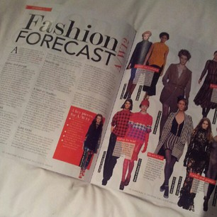 Knitting magazine trend forecast feature