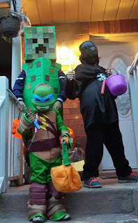Halloween costumes, ninja costume, Ninja Turtle costume, Creeper costume, kids costumes, trick-or-treating