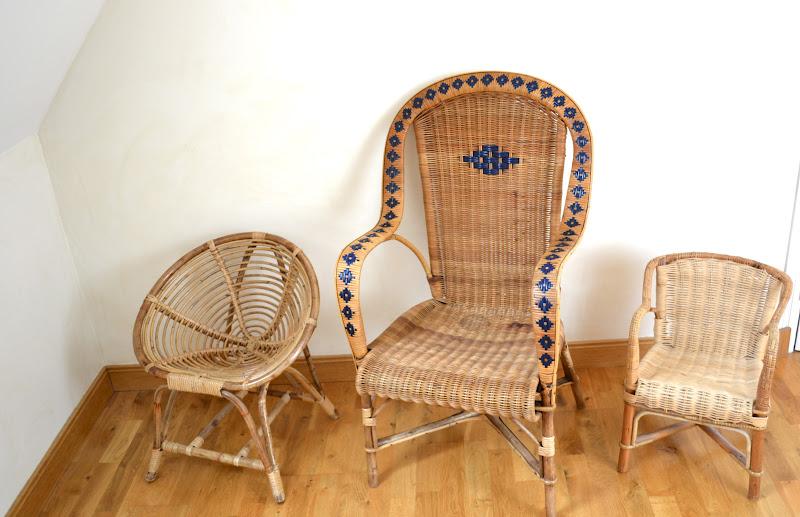 past present fauteuil en rotin pour enfant. Black Bedroom Furniture Sets. Home Design Ideas