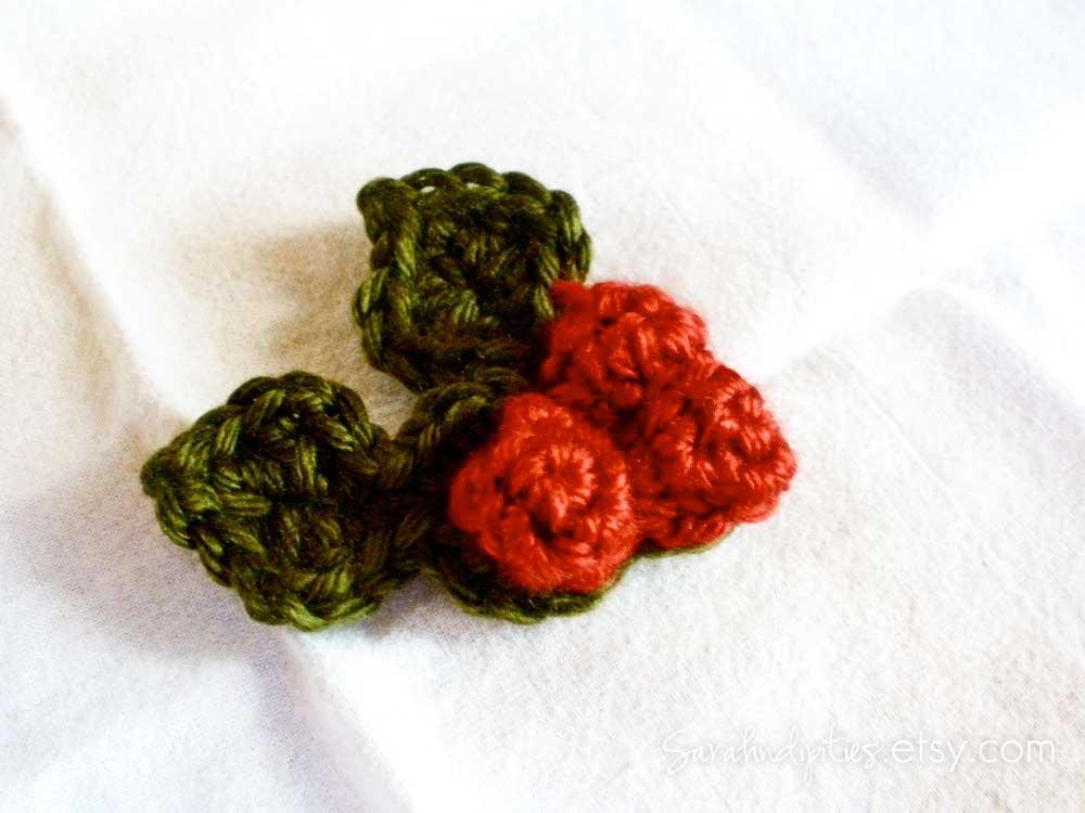 Crochet Holly Berry Pin Goodknits A Knitting Crochet Blog