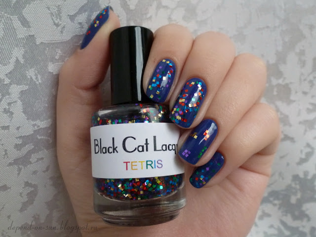 Black Cat Lacquer Tetris