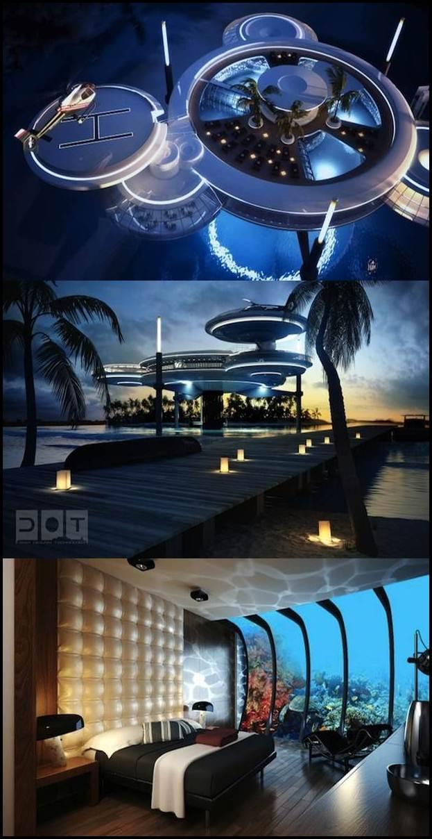 discus hotel futuristik di dasar laut dubai