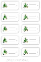 Jmenovky na vánoční dárky