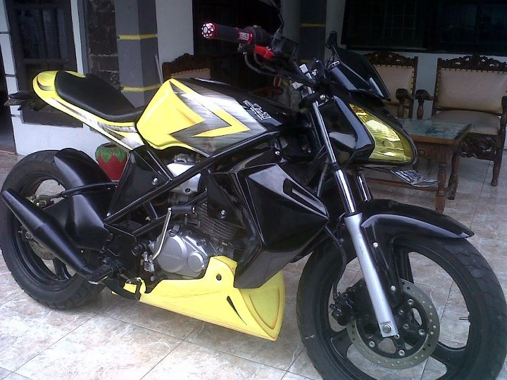 the photos of cool motorcycle is honda tiger 2002, rebuild to minor