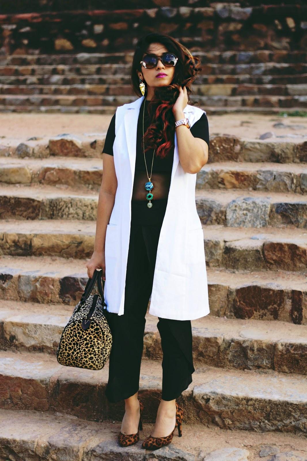 白色夹克,冬天的创意,elle街头风格,时尚