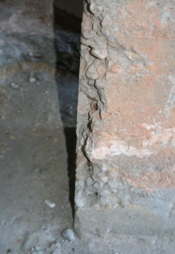 oxidación de armaduras en pilar