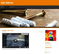 A screenshot of Carson's blog called Epic Alberta.