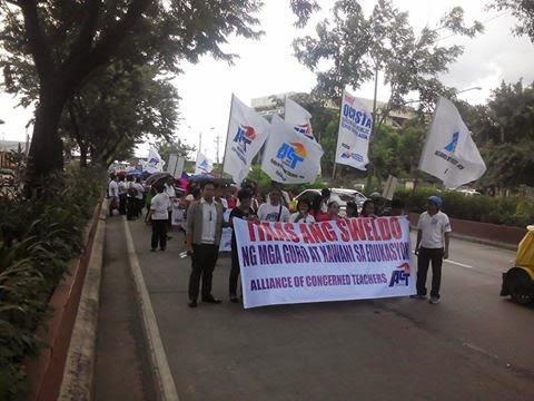 ACT rally for salary hike