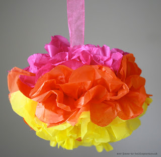 Fun and easy to make paper pom poms are great for birthdays, BBQs, any celebration!