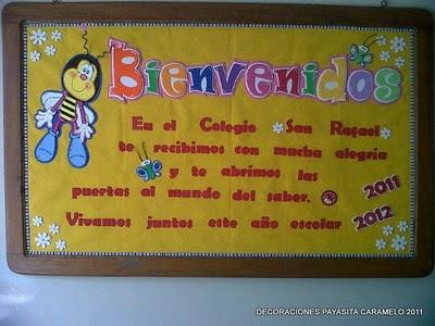 CARTELERA DE BIENVENIDA 2011-2012
