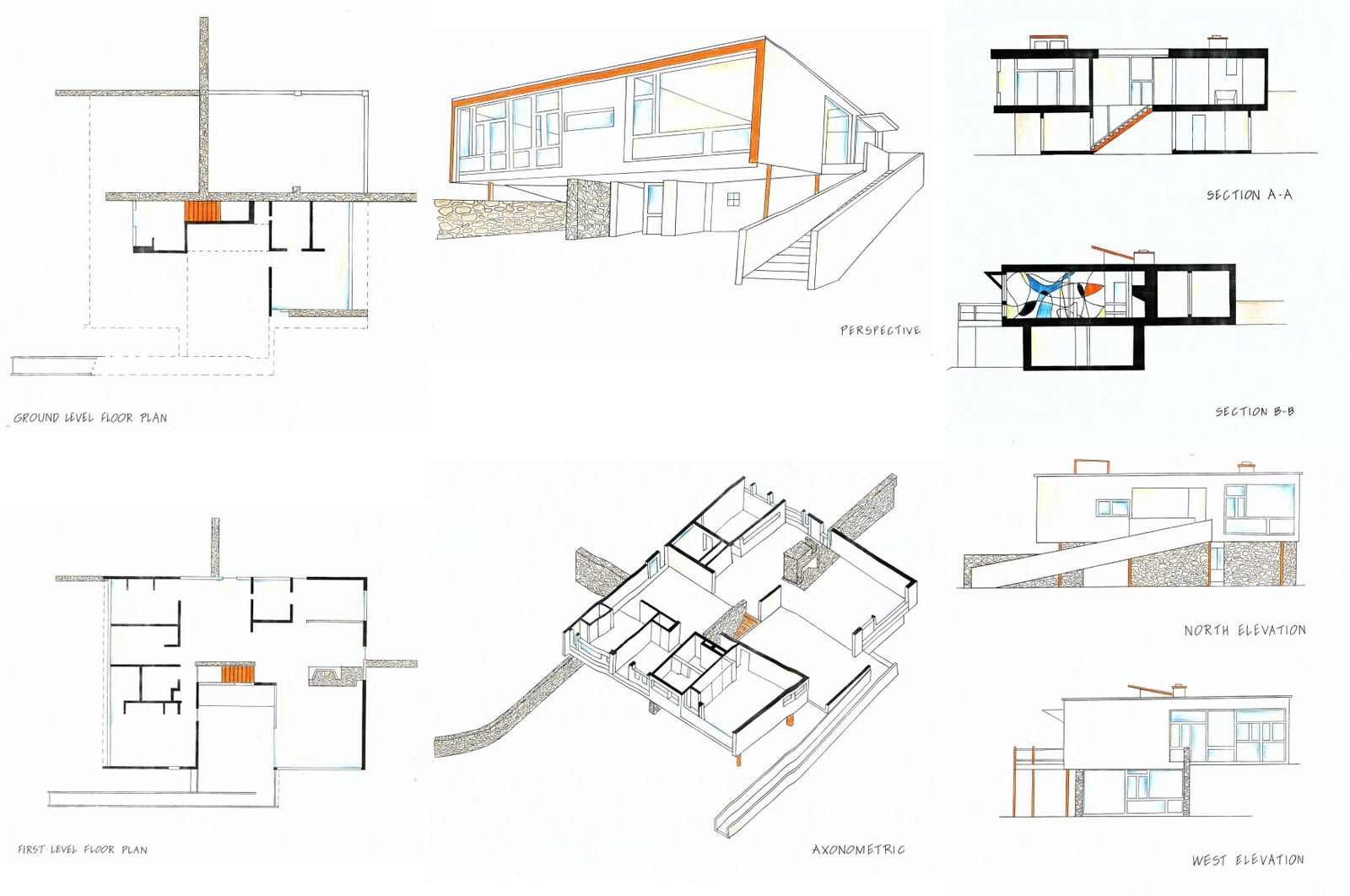 207024914097202122 besides Texas Hill Country Modern House Design as well  additionally Rose Seidler House Site Plan further Sunday August 11th Open Houses. on pool house plans with porches