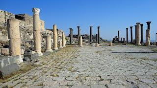 A square of columns in Umm Qais