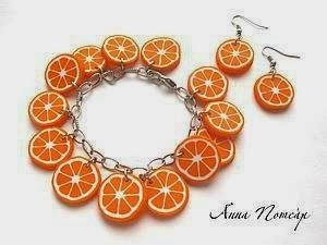 Orange plastic.