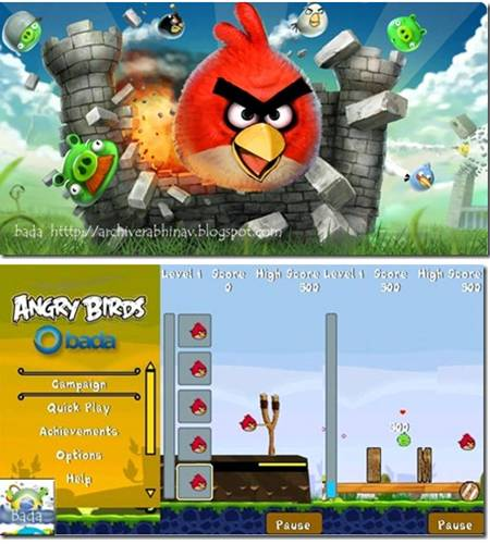 Official site ArchiverAbhinav: Angry birds for Bada ...