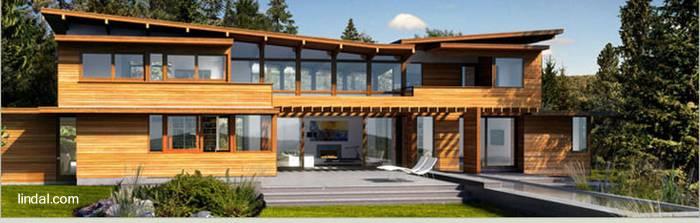 Arquitectura de casas modernas casas de madera for Casa moderna madera