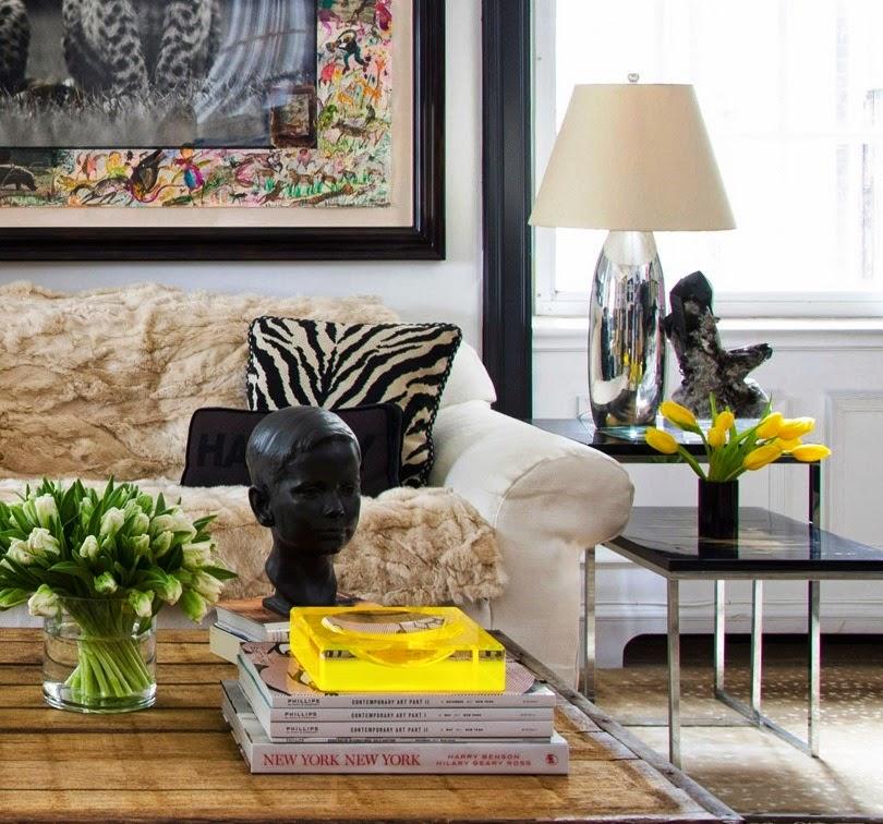 Decoração de sala em amarelo