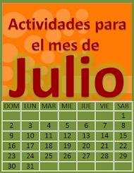 ACTIVIDADES PARA EL MES DE JULIO