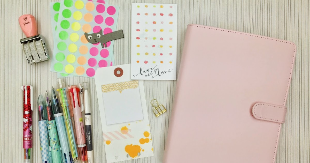 how to set up a planner