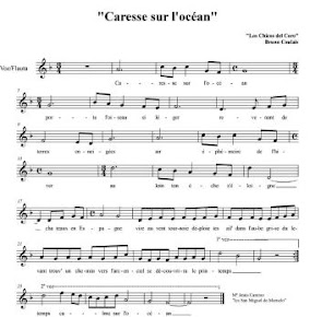 "Partitura de ""Caresse sur l&#39;ocan"""