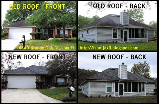 4640 Brandy Oak Court Old vs New Roof Comparison