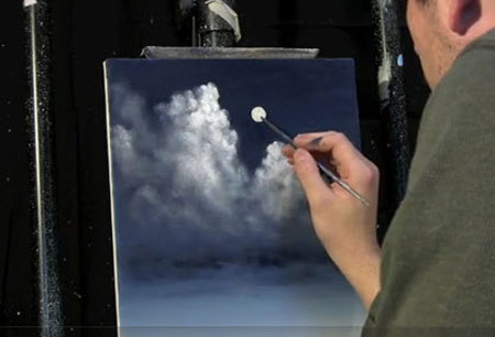 Moonlit Night Sky Clouds