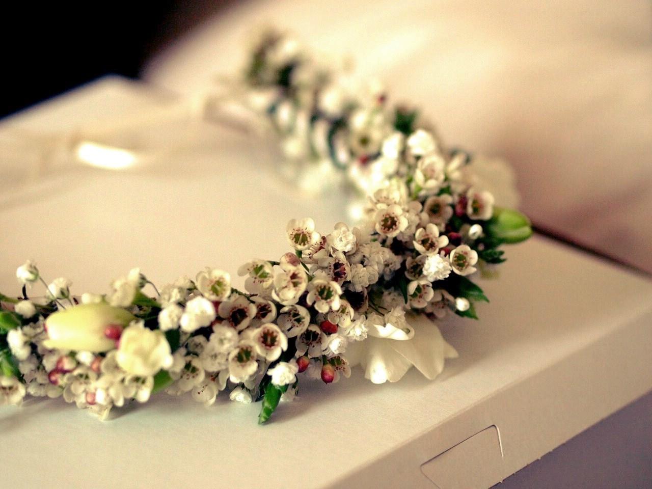 Tashi and Bobo Wedding Flower Wreath
