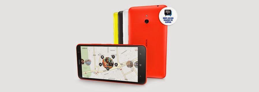 Fitur dan Spesifikasi Nokia Lumia 1320