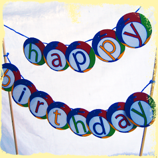custom birthday cake bunting