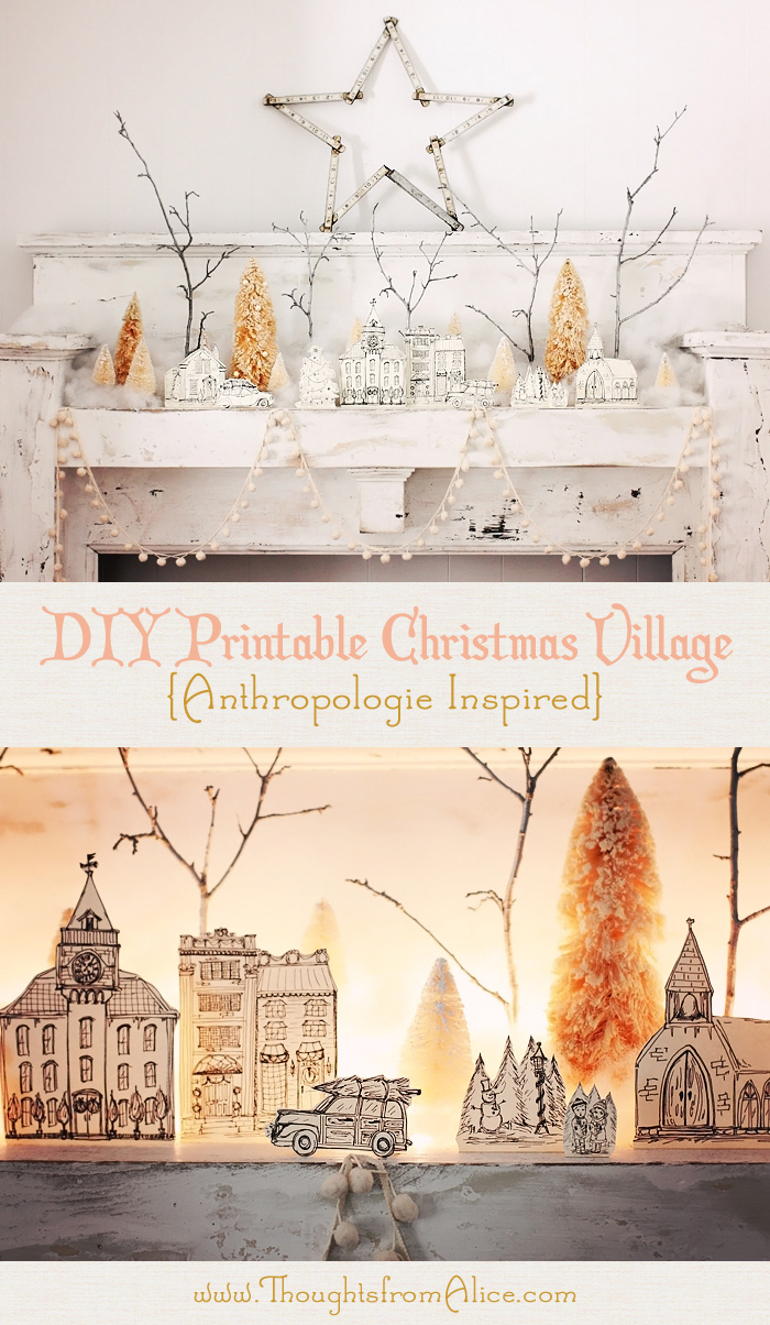 thoughts from alice diy printable christmas village, Bedroom decor