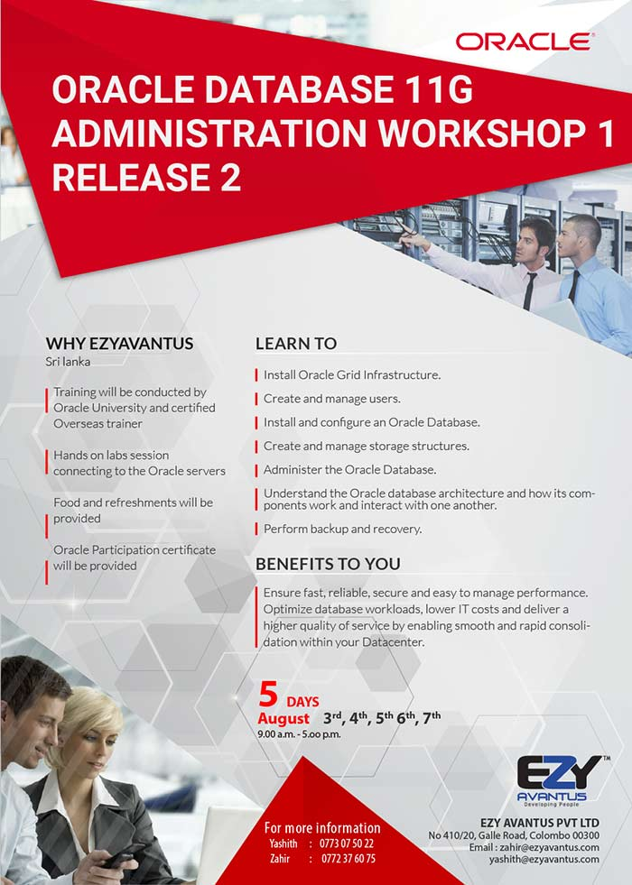 Oracle Database 11G - Administration Workshop 1 Release 2.