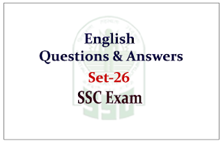 English Questions and Answer for SSC CGL Exam