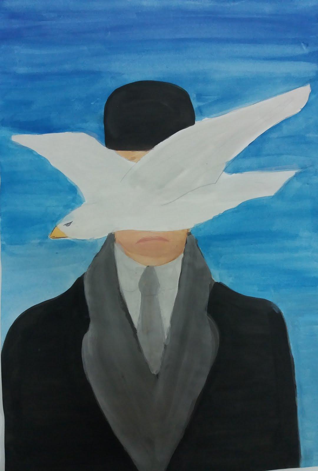 """Magritte """"uomo con bombetta"""""""