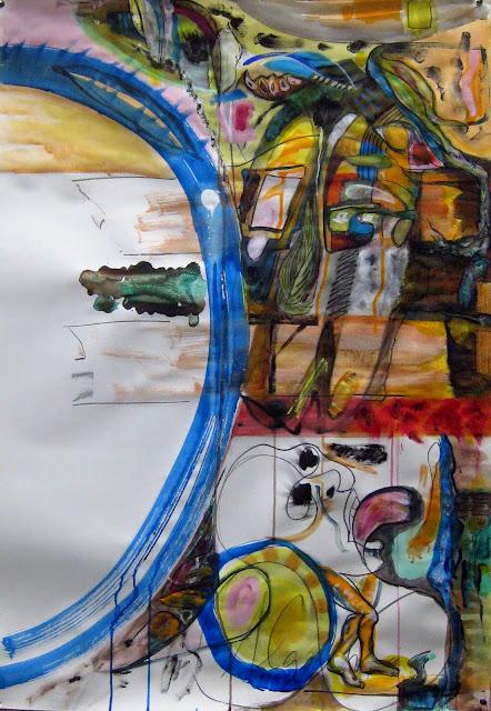 Cuadro Algo más obra original de Juan Sánchez Sotelo. Acrílico sobre papel. Academia de dibujo y pintura Artistas6 clases para aprender a dibujar y pintar. Venta de obra original contemporánea figurativa y abstracta