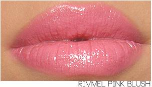 rimmel pink blush lipstick swatch