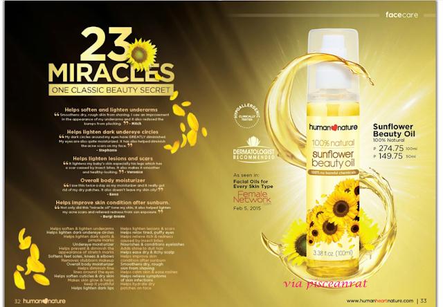 human heart nature sunflower beauty oil review, human nature sunflower oil review,
