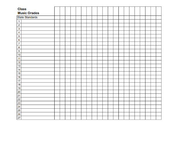 free printable grade sheet template