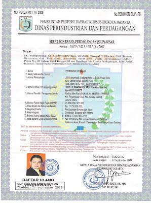 Contoh Dokumen Surat Izin Usaha Perdagangan