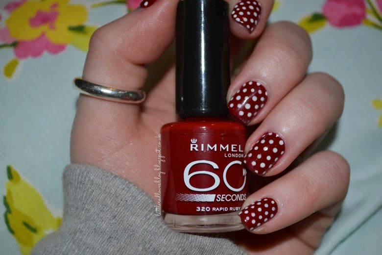 Red Polka Dot Nail Art - Little Red Loves: Red Polka Dot Nail Art