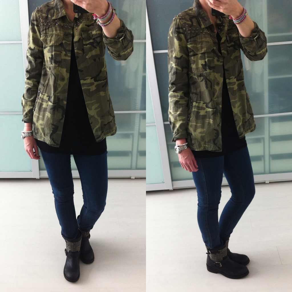 Sheer Camouflage Blouse 91