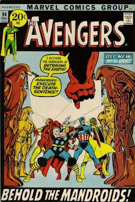 Avengers #94, Kree/Skrull War, Neal Adams, Mandroids