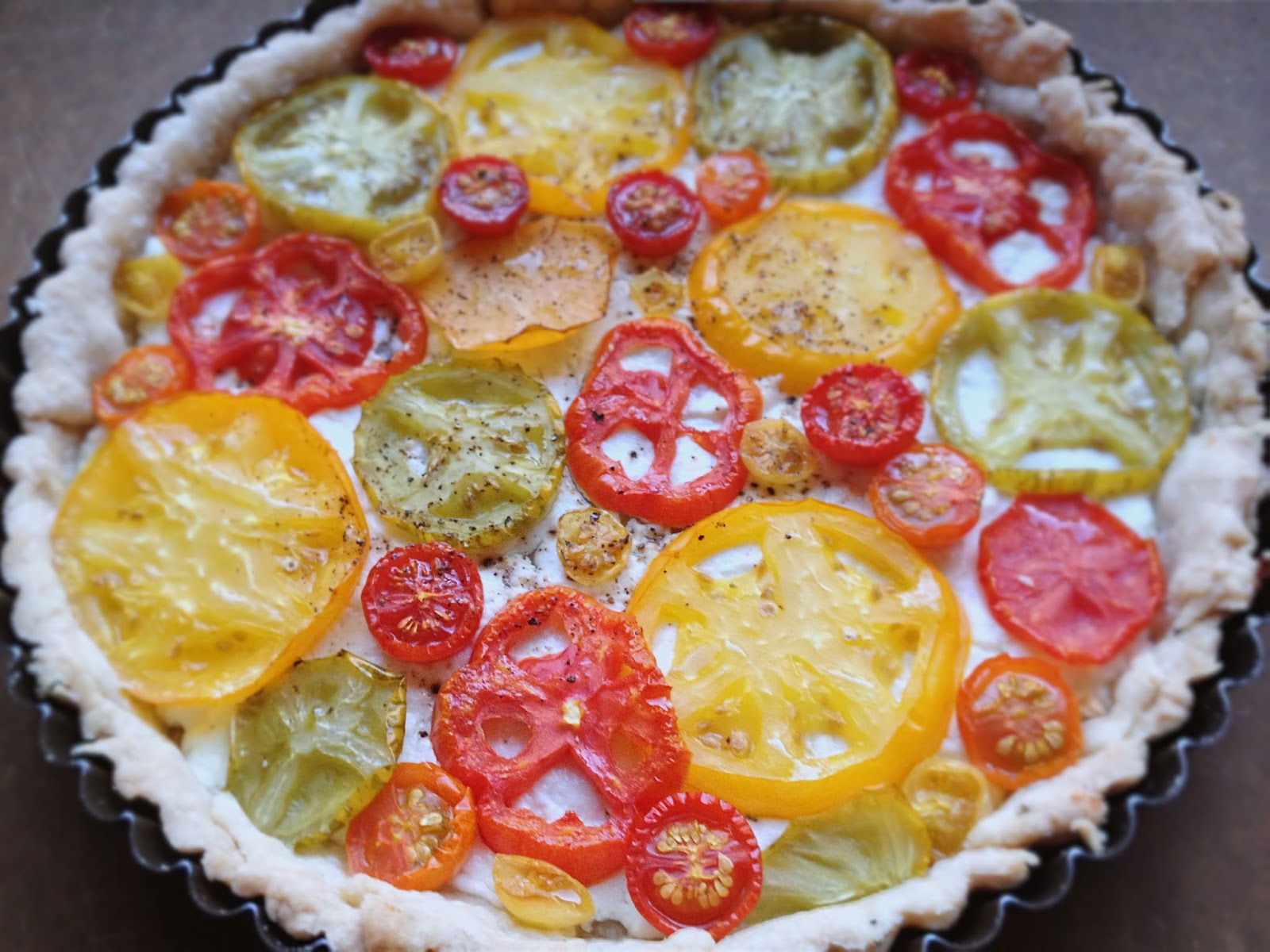 Tomato Tart With Parmesan-Rosemary Crust Recipe — Dishmaps