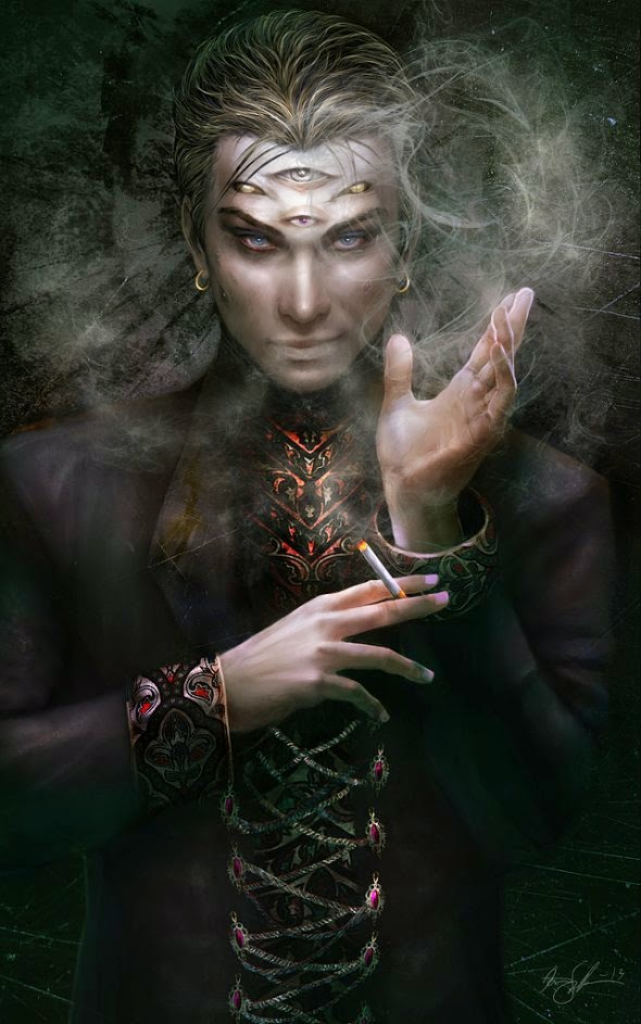 Kirsi Salonen ilustrações fantasia sombria 7 príncipes pecados do inferno