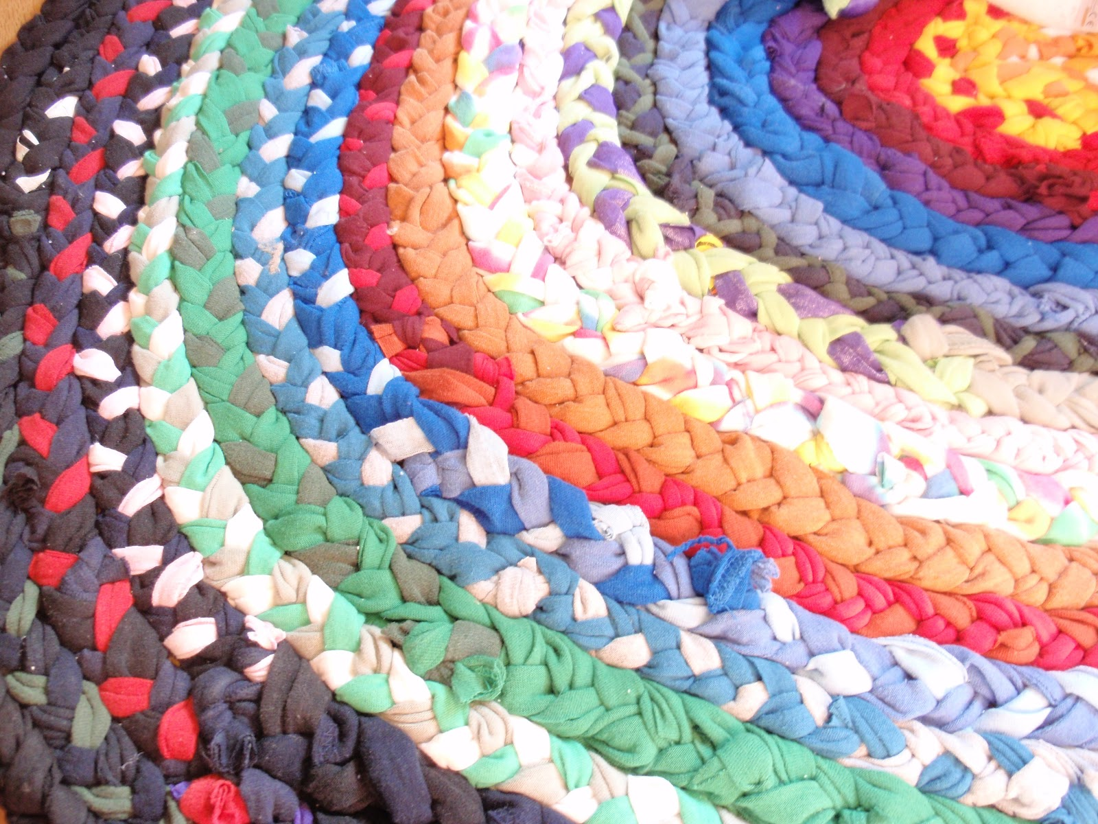 Braided T Shirt Rag Rug